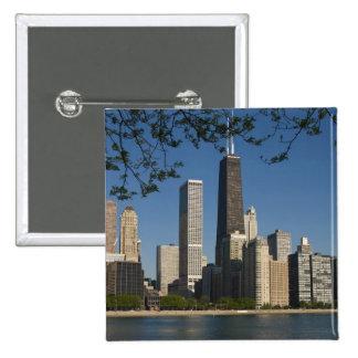 Chicago skyline and Lake Michigan Lake Shore Button