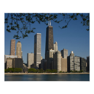 Chicago skyline and Lake Michigan, Lake Shore Poster