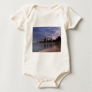 Chicago Skyline at Dusk Baby Bodysuit