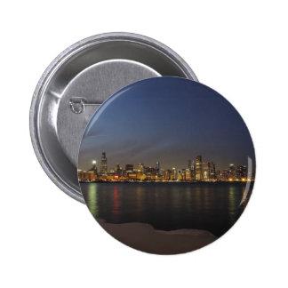 Chicago Skyline at Dusk Pin