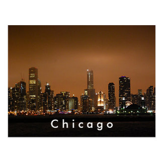 Chicago Skyline at Navy Pier Post Cards
