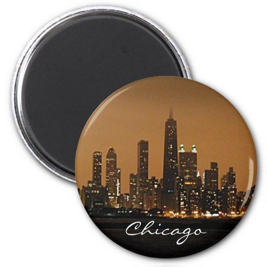 Chicago Skyline at night at John Hancock Centre Magnet