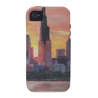 Chicago Skyline at Sunset iPhone 4 Case