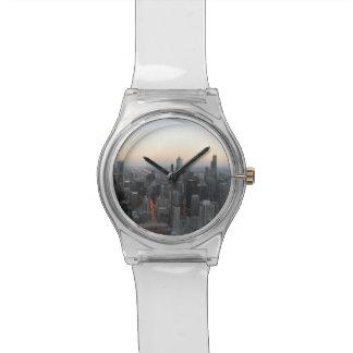 Chicago Skyline at Sunset Wristwatch