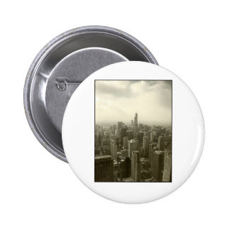 Chicago Skyline Pinback Button