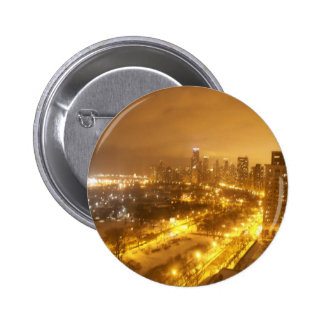 Chicago Skyline Pinback Buttons