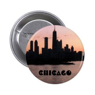 Chicago skyline pin