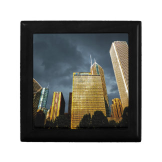 Chicago Skyline Before A Storm Gift Box