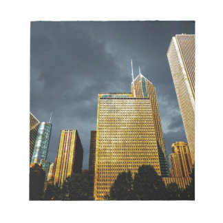 Chicago Skyline Before A Storm Notepad