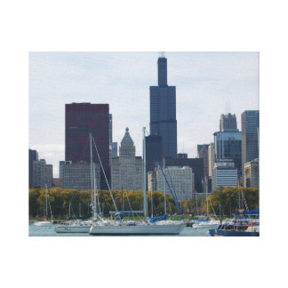 Chicago Skyline canvas Stretched Canvas Prints