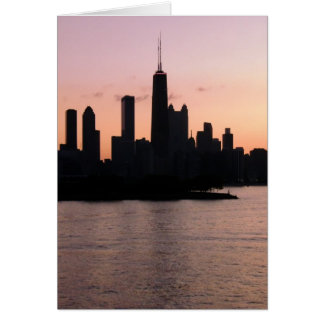 Chicago skyline greeting cards