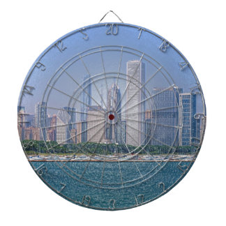 Chicago Skyline Dartboard