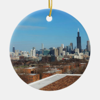 Chicago Skyline Christmas Tree Ornaments