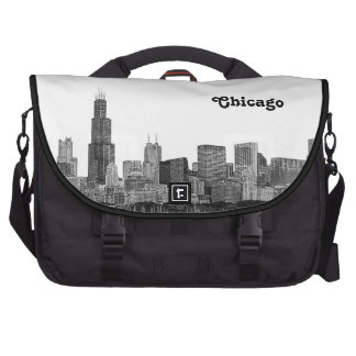 Chicago Skyline Etched Laptop Bag
