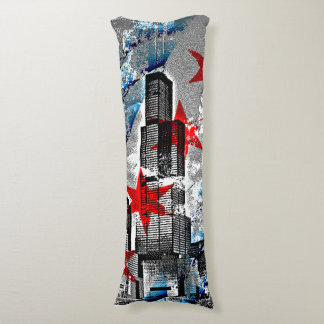 Chicago Skyline Flag Body Pillow