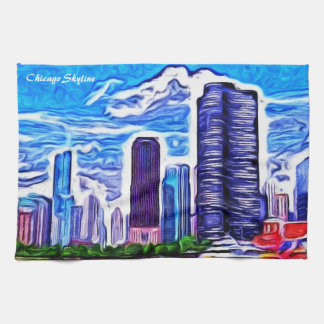 Chicago Skyline Hand Towels