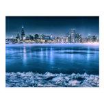Chicago Skyline in Winter Postcard