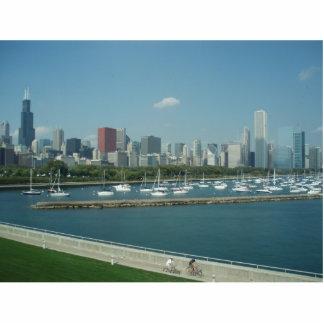 Chicago Skyline Keychain Photo Sculpture Key Ring