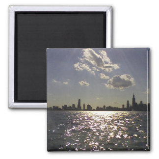 Chicago skyline refrigerator magnets