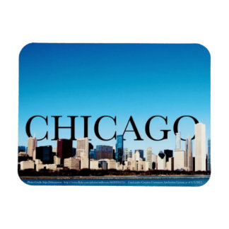 Chicago Skyline Magnet with Chicago in the Sky