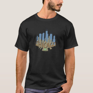 Chicago Skyline newwave beachy T-Shirt
