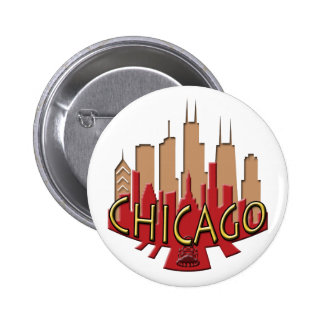 Chicago Skyline newwave hot Buttons