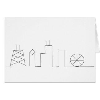 Chicago Skyline Notecard