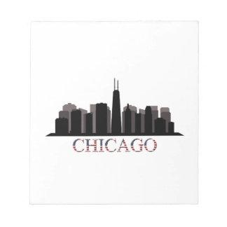 chicago skyline notepad