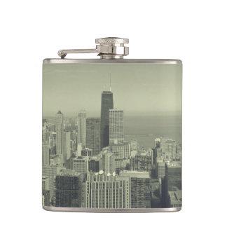Chicago Skyline Panoramic Flask