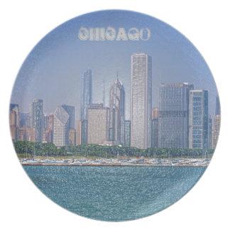 Chicago Skyline Plate
