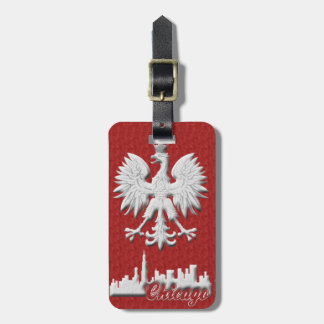 Chicago Skyline Polish Eagle Luggage Tag