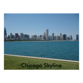 """Chicago Skyline"" Poster"