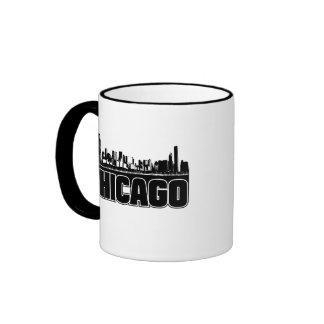 Chicago Skyline Ringer Mug