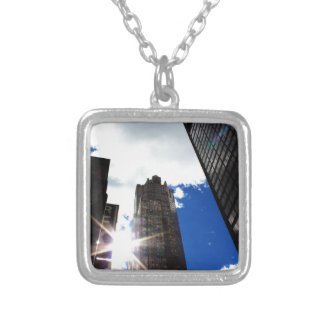 Chicago Skyline Silver Plated Necklace