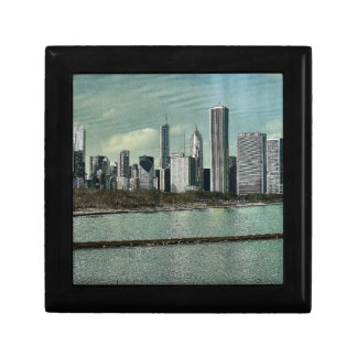 Chicago Skyline Small Square Gift Box