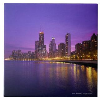 Chicago Skyline Large Square Tile