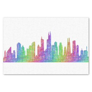 Chicago skyline tissue paper