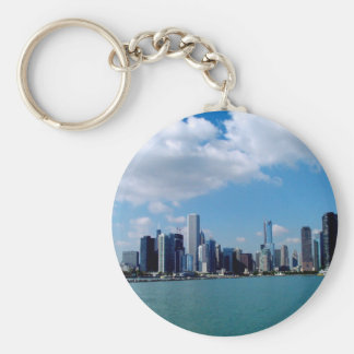 Chicago skyline view from Navy Pier Key Ring