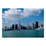 Chicago skyline view from Navy Pier Poster