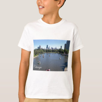 Chicago Skyline with Boats T-shirts
