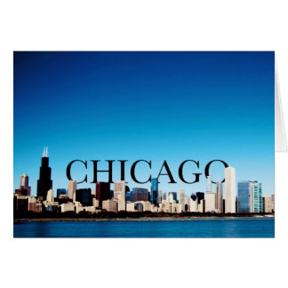 Chicago Skyline with CHICAGO in the Sky Greeting Card