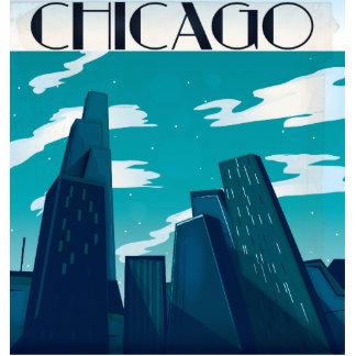 Chicago Skyscrapers Standing Photo Sculpture