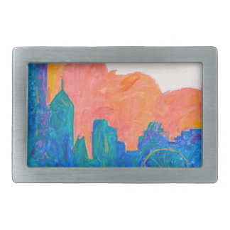 Chicago Spin Rectangular Belt Buckle
