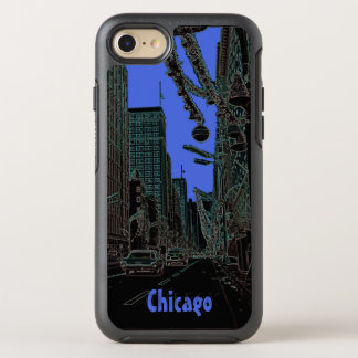 Chicago State Street @ Christmas 1967 Glowing Edge OtterBox Symmetry iPhone 8/7 Case