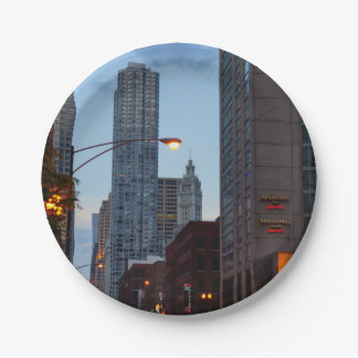 Chicago Street Scene 7 Inch Paper Plate