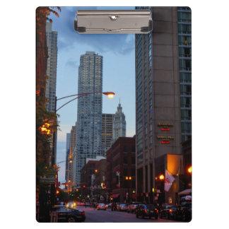 Chicago Street Scene Clipboard