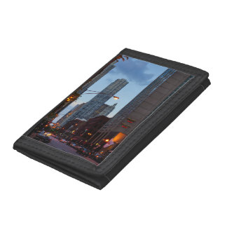 Chicago Street Scene Trifold Wallets