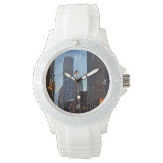 Chicago Street Scene Wrist Watch