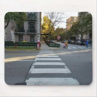 Chicago Street Zebra Crossing Mouse Pad
