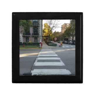 Chicago Street Zebra Crossing Small Square Gift Box